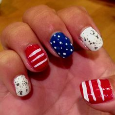 July 4th nails! @jessi peacock