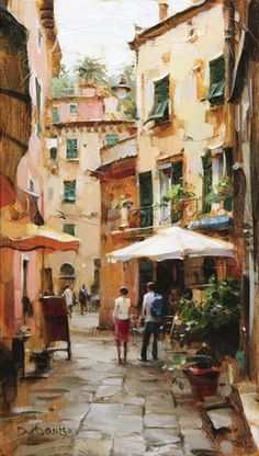 Artist: Dmitri  Danish, Title: The Lanes of Monterosso - click to close window