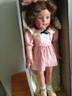Vintage Effanbee Ann Shirley, all original, 21 inches.