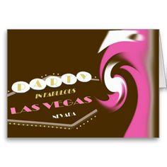 PINK SPLASH Las Vegas Party Card