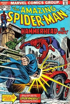 The Amazing Spider-Man # 130 - March 1974 - Cover Art by John Romita Sr.  #SpiderMan #JohnRomitaSr #cover