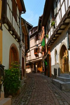 Alsace - Squeeee! Mysteriously winding streets in Europe are my favorite!