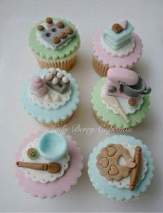Increíbles obras de arte en cup cakes