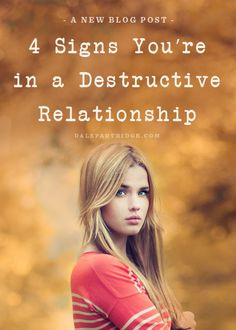 We've all been here. The question is, are you there now?  http://dalepartridge.com/4-signs-youre-destructive-relationship/