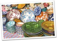 seaside moraccan decor | Moroccan interior design and decor - Moroccan ceramic plates