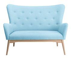 Sofá de 2 plazas Dixie - azul claro