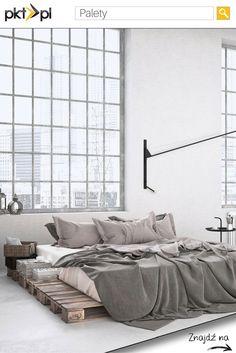 Łóżko z #palet - świetnie wygląda, prawda?