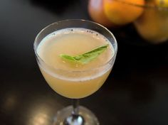 Pamplemousse       1 ounce gin     1 ounce freshly squeezed juice from 1 white grapefruit     1/2 ounce freshly squeezed juice from 1 lemon     1/2 ounce elderflower liqueur, such as St. Germain     Garnish: basil leaf