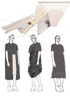 Fashion Sketchbook - graduate fashion design collection development; fashion portfolio; fashion illustration // Victoria Cumming