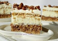 Romanian Desserts, Romanian Food, Mini Desserts, Vegan Desserts, Cake Recipes, Dessert Recipes, Delicious Deserts, Pastry Cake, Homemade Cakes