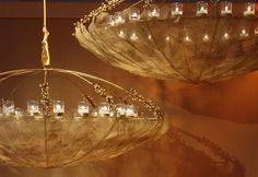 beautiful hanging lights from Preston Bailey