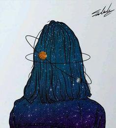 Drawing pencil mindblowing work by muhammed salah - ms artwo Art And Illustration, Landscape Illustration, Muhammed Salah, Galaxy Art, Galaxy Wallpaper, Diy Art, Art Inspo, Painting & Drawing, Art Girl