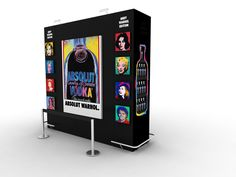 Absolut. Isla monumental supermercados. Absolut Andy Warhol