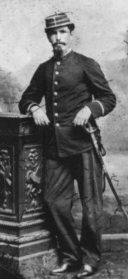 Oficial del Regimiento Esmeralda 7° de Línea, nombre y grado desconocidos.