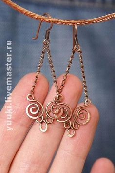 wire wrapped earrings by wanting
