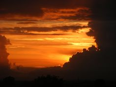 Sunset. Taken through my kitchen window. Newton Heath. Manchester. UK. By Tony Cordingley