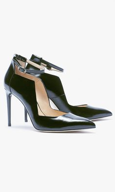 Eugenia Kim makes black pumps even more enduring with an architectural shape, ankle strap and sharp toe.