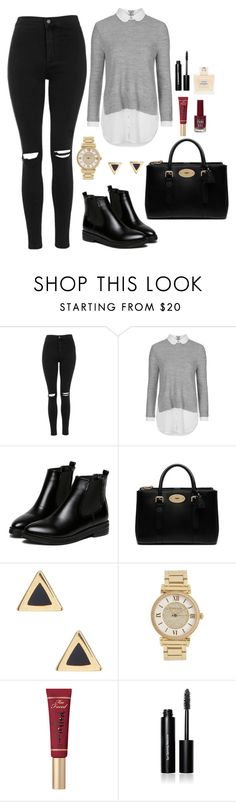 """""""Untitled #164"""" by marr-neubauerova on Polyvore featuring Topshop, WithChic, Mulberry, Ariella Collection, Michael Kors, Too Faced Cosmetics, Bobbi Brown Cosmetics and Balmain"""