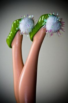 Tinkerbell shoes.  How cute!  All the years I worked with children, I never dressed up as Tink.  Hmmmm!