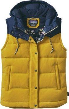 Patagonia Women's Bivy Hooded Down Vest Sulphur Yellow XL