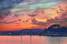 Sunset #Alicante #CostaBlanca Foto: José A. Capó @herc_crj en Twitter