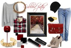 """""""Oxblood paths"""" by sinnersss on Polyvore"""