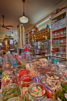 Sugar Photograph - Vintage Candy Store by Eti Reid Candy Store Design, Candy Store Display, Candy Room, Wholesale Candy, Candy Factory, Penny Candy, Vintage Candy, Shop Front Design, Shop Window Displays