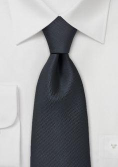Krawatte Rippsstruktur anthrazit