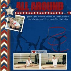 All Around - Gymnastics Digital  Scrapbook Layout from Creative Memories