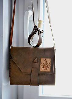 Lisbet / kožený zápisník Travel bag SCOUT mini