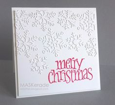 CS191, FFC31, Merry Christmas - various snowflake dies