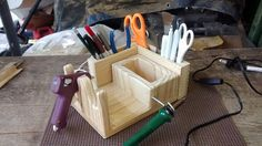 THE DELUXE G2 Double Wood Glue Gun Holder by CreativeWorksBySteve