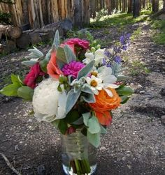 Rocky Mountain Wedding Flowers // Wildflower Centerpieces at the High Country Lodge in Breckenridge, CO   Petal and Bean