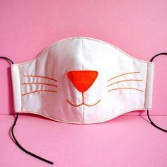 Kawaii Cosplay, Neko Cosplay, Cat Face Mask, Nose Mask, Face Masks, Cat Nose, Fashion Pattern, White Kittens, Mouth Mask