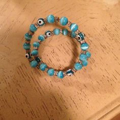 "Bracelet ""Keep the evil eye away"" bracelet w / blue beads Jewelry Bracelets"