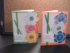 Stampin 'Up ink pads, punch and stamps.