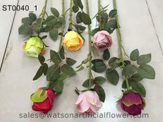 single stem artificial silk roses - Tianjin Watson Gifts Co., Ltd.