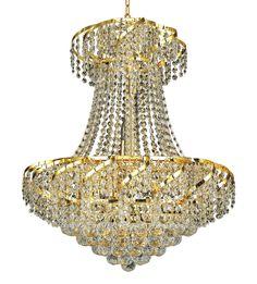 Belenus 11 Light Crystal (Clear) Chandelier in Gold Finish ECA1D22G/EC