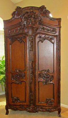 Antique reproduction of late 18th century French Armoire with lovebirds   by TheYardleyCottage, $2500.00