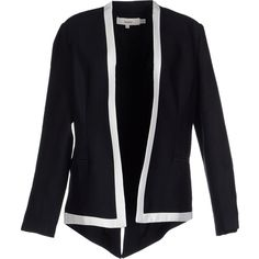 Cameo Blazer ($111) ❤ liked on Polyvore featuring outerwear, jackets, blazers, black, black blazer, single breasted jacket, multi pocket jacket, black long sleeve jacket and long sleeve blazer