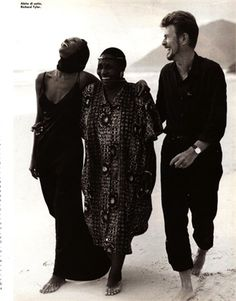 with miriam makeba by bruce weber