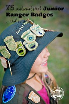 75 National Park Junior Ranger Badges!