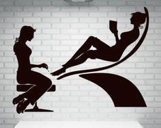 Manicura de pared calcomanías chica mano Spa por WallDecalswithLove