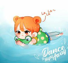 #DTNA Nayeon, Fan Art, K Pop, Chibi, Pop Posters, Baby Tigers, Twice Fanart, Hello My Love, Chaeyoung Twice