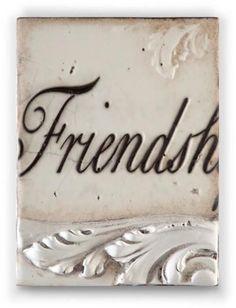Sid Dickens FRIENDSHIP Memory Block Mint Tile T251 2010 Friend T 251