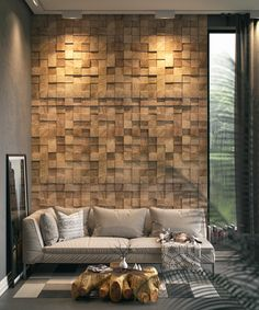 home accents walls favorite place on Behance Wooden Wall Panels, Wooden Wall Decor, Wooden Walls, Home Decor Furniture, Diy Home Decor, Modern Apartment Decor, Family Room Walls, Home Accents, Living Room Designs