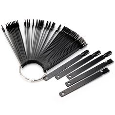 50pcs Uña falso negro polaco Pantalla sugerencia Palo anillo de apoyo del tablero Stand manicura práctica herramienta