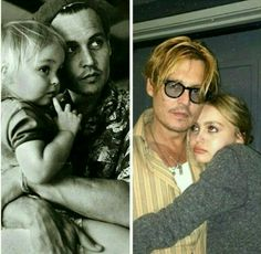 Sooo cute~Johnny and his daughter Lilly-rose
