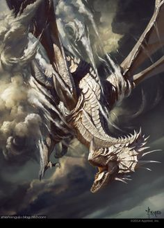 Silver Dragon, Bayard Wu on ArtStation at http://www.artstation.com/artwork/silver-dragon