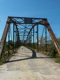 Canadian River bridge Calvin Oklahoma
